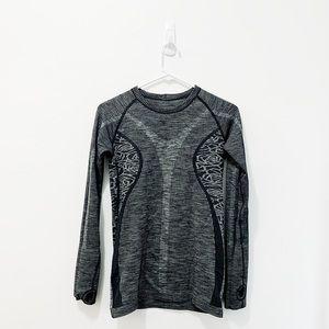 Charcoal Grey Lululemon Long-Sleeve Top